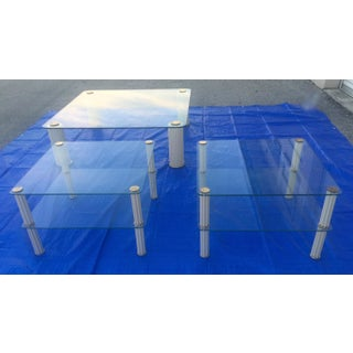 1960s Hollywood Regency Ceramic Coffee Tables by Paf Milano - Set of 3 Preview