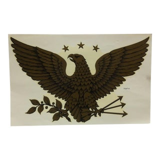"Vintage Meyercord Decal / Wall Decoration ""American Eagle"" - Circa 1930 For Sale"