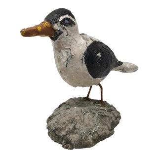 Vintage Handmade Concrete Bird For Sale