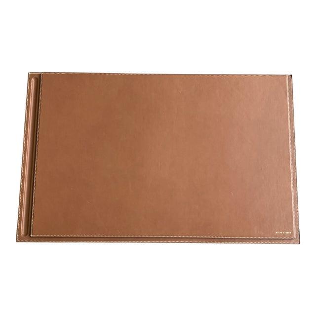 Ralph Lauren Brennan Leather Desk Blotter For Sale