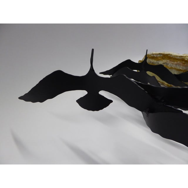 "Metal Bijan ""Flock of Seagulls"" Kinetic Metal Sculpture For Sale - Image 7 of 12"