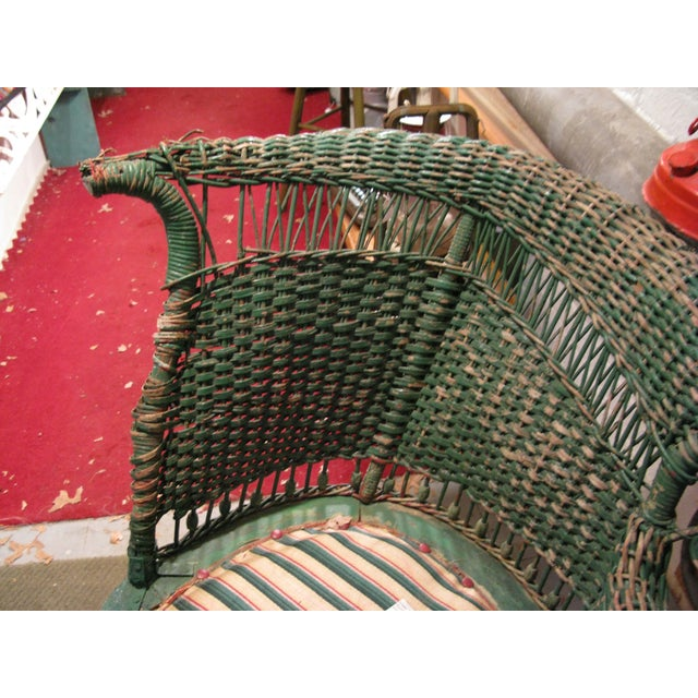 Art Deco Wicker Chair - Image 6 of 9