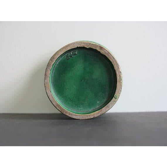 Late 19th Century Green Japanese Awaji Pottery Vase For Sale - Image 4 of 5