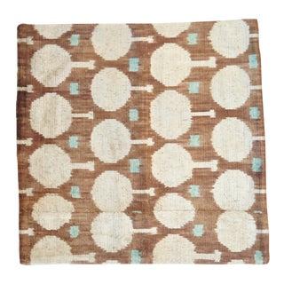 Brown Silk Velvet Throw Pillow