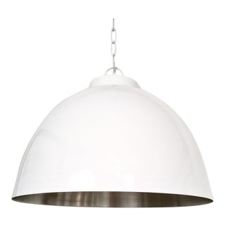 Modern White & Nickel Hanging Pendant Lamp