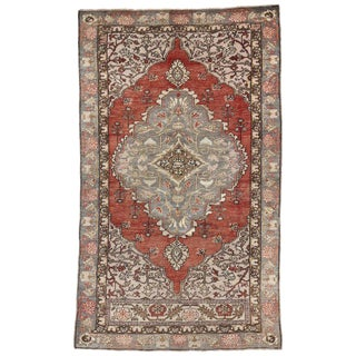 20th Century Turkish Oushak Hall Accent Rug - 3′9″ × 6′3″ For Sale