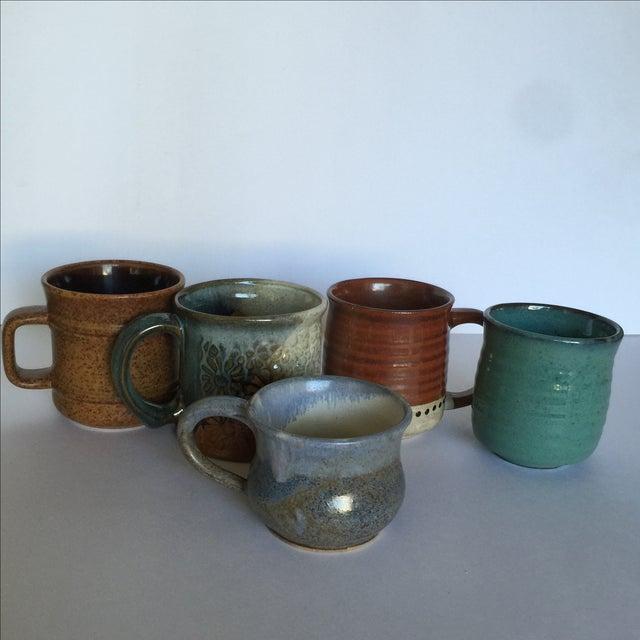 Vintage Pottery Mugs - Set of 5 - Image 3 of 11