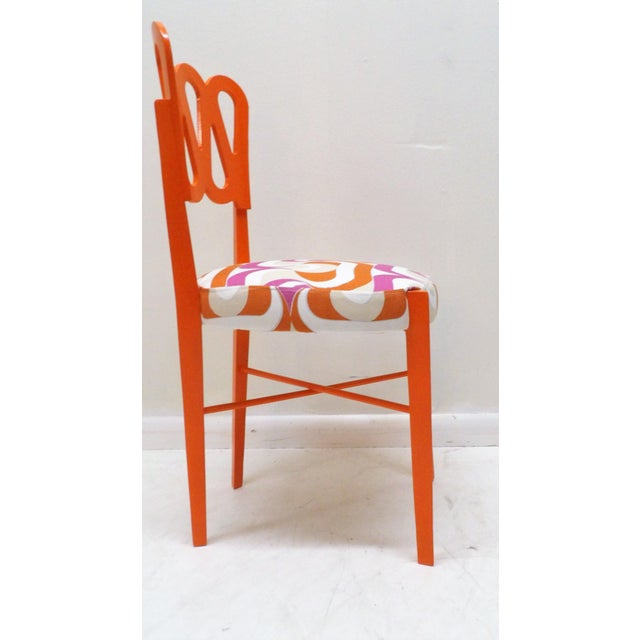 Newly Lacquered Dining Chairs - Set of 5 For Sale - Image 4 of 8