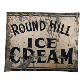 Vintage Ice Cream Sign For Sale