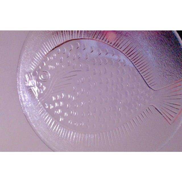 Vintage Danish Modern Glass Fish Platter For Sale - Image 4 of 6