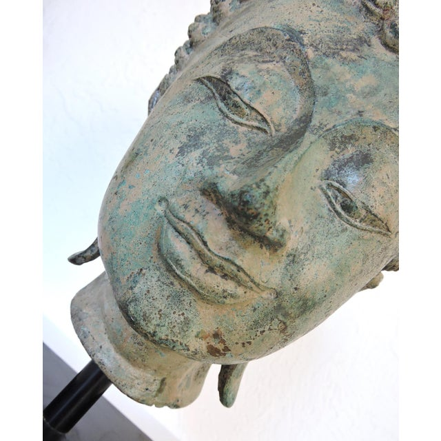 Bronze Mounted Bronze Representation of Buddha (Sukhothai), Thailand For Sale - Image 7 of 7