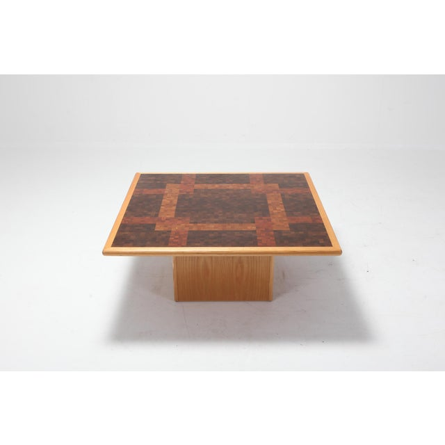 Wood Middelboe and Lindum Mosaic Coffee Table For Sale - Image 7 of 8