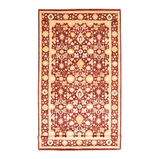 Floral Hand-Knotted Rug For Sale