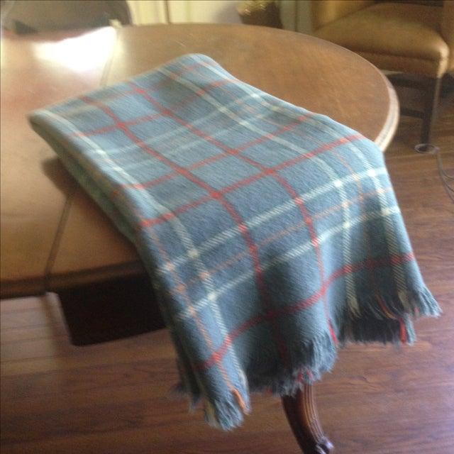 Vintage Plaid Wool Blend Blanket - Image 9 of 11