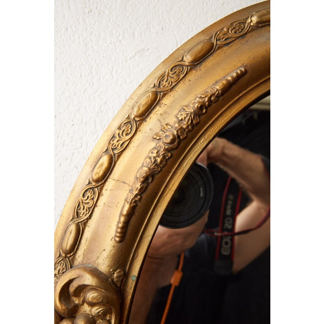 Antique Oval Gilt Mirror For Sale In Atlanta - Image 6 of 7