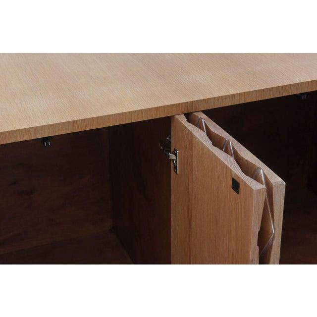 Cerused Oak Four-Door Buffet or Credenza, Jamie Herzlinger For Sale - Image 5 of 11