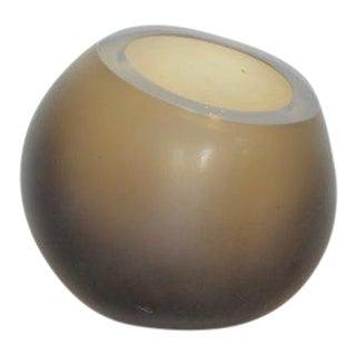 Klaar Prims 'Amorf' Sandblasted Glass Object - Smoky Topaz For Sale