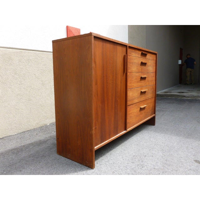 Danish Modern 1960's Mid-Century Danish Modern Architectural Bachelors Chest For Sale - Image 3 of 10