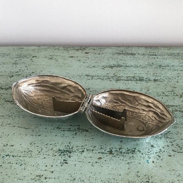 1960s Vintage Silver Walnut Nutcracker For Sale - Image 4 of 5