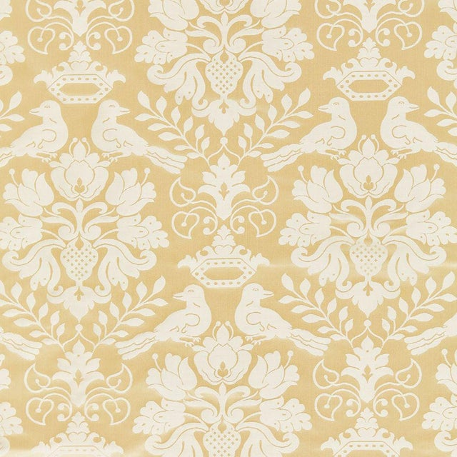 Transitional Scalamandre Love Bird Fabric in Beige Sample For Sale - Image 3 of 3