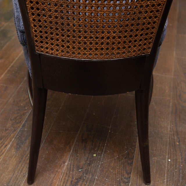 Midcentury Cane Backed Side Chairs For Sale In New York - Image 6 of 11