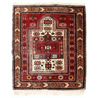 Kazak Tribal Prayer Rug - 3′9″ × 4′7″