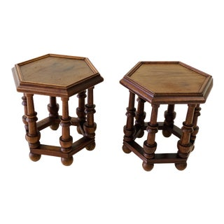 British Colonial Teak Side Tables - a Pair For Sale