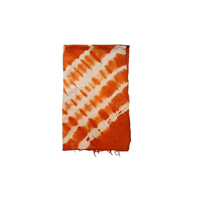 Tangerine orange mud cloth textile. A great colorful piece to add to your decor! Local Pickup is available ONLY during...