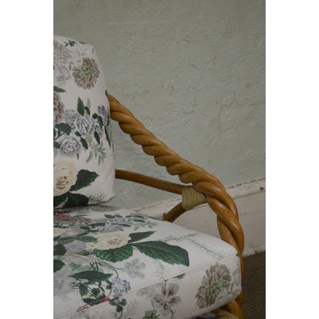 McGuire of San Francisco Twisted Rattan Lounge Chair For Sale - Image 10 of 13