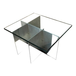 Paul Mayen Aluminum Architectural Side Table