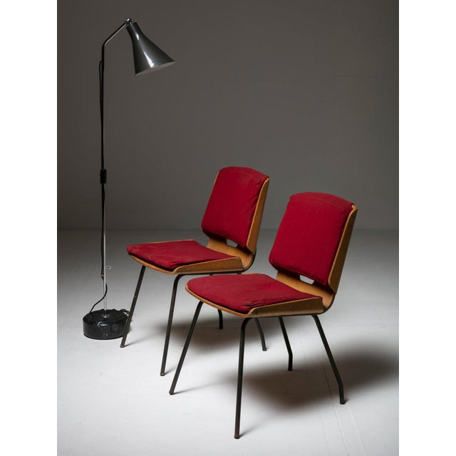 """Metal Pair of """"Lucania"""" Chairs by Giancarlo De Carlo for Arflex For Sale - Image 7 of 8"""