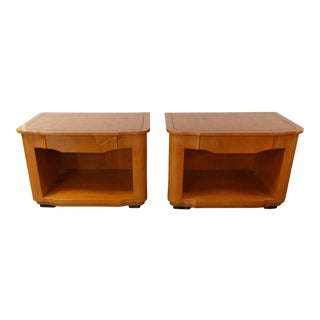 Enrique Garcel Lacquered Wood Nightstands- a Pair For Sale