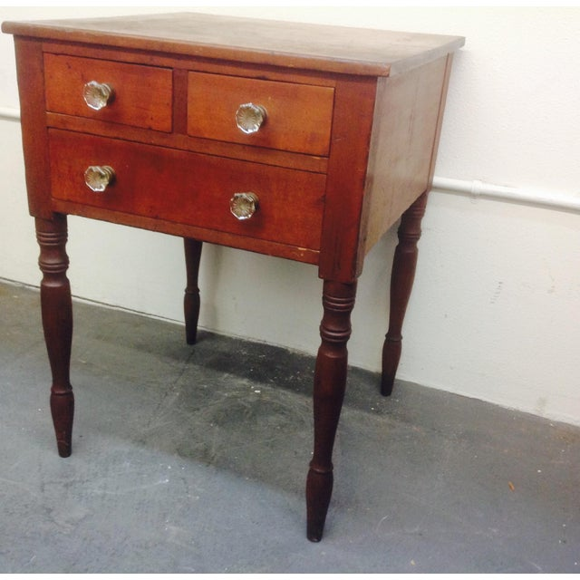 3-Drawer Spindle-Leg Side Table - Image 3 of 5