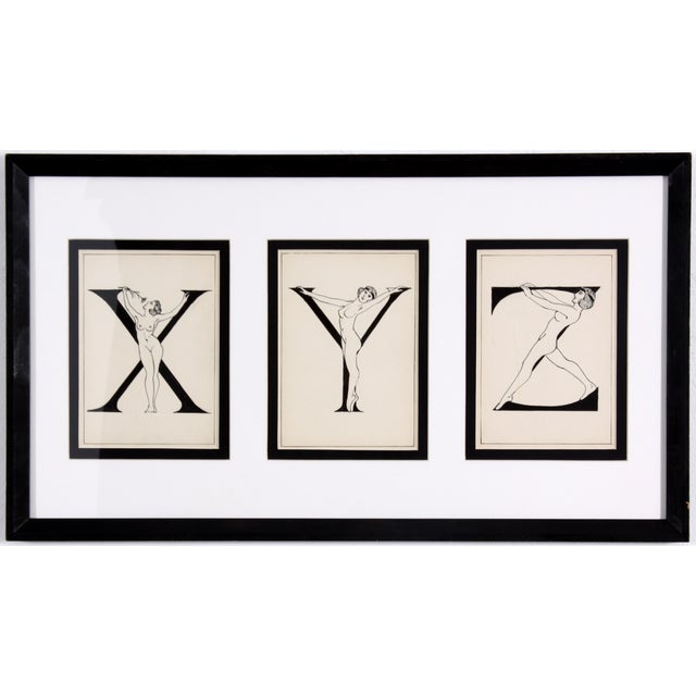 "Framed ""X, Y, Z"" Drawing, Circa 1920 - Image 1 of 4"