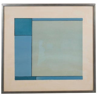 American Ludwig Sander Geometric Color Field Lithograph For Sale
