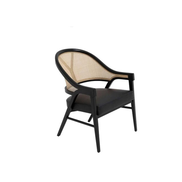 Paulo Antunes Contemporary Dining Chairs in Cane and Solid Wood - Set of 4 For Sale In New York - Image 6 of 7