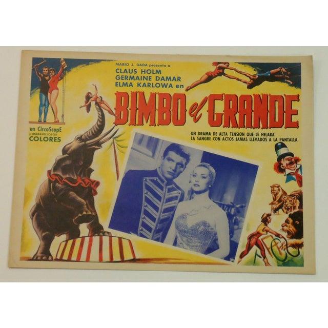 Vintage Spanish Circus Movie Poster Bimbo Elephant - Image 2 of 6