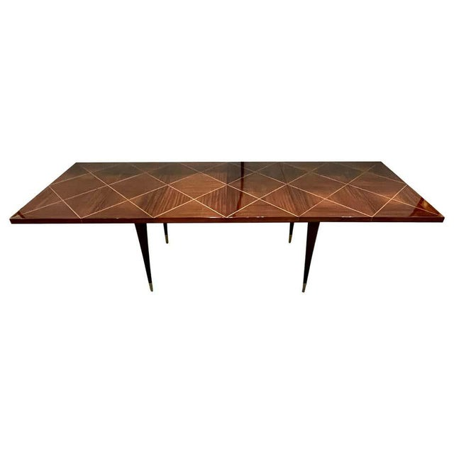 A Tommi Parzinger Originals Dining Table Fully Refinished With Two Leaves For Sale - Image 13 of 13