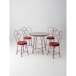 Antique Ice Cream Parlor Table Set Preview