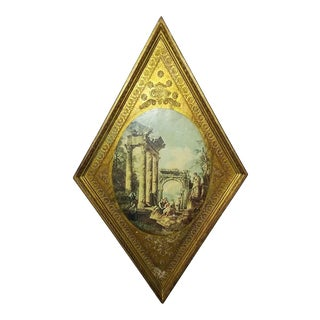 Vintage Italian Florentine Wood Tole Wall Hanging For Sale
