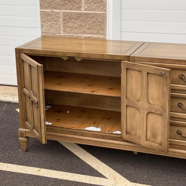 """Mid 20th Century Modular 129"""" Credenza by Union-National Inc. For Sale - Image 5 of 13"""