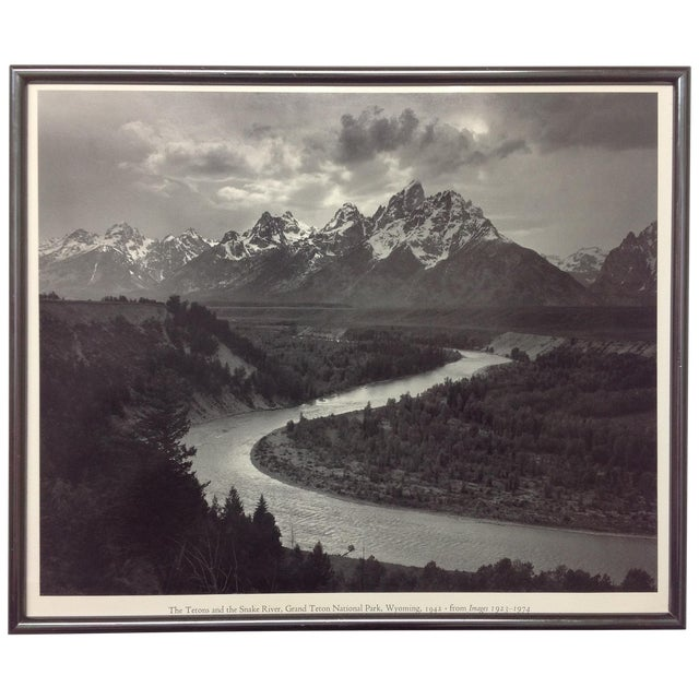 """Snake River & the Tetons"", Ansel Adams Print - Image 1 of 3"