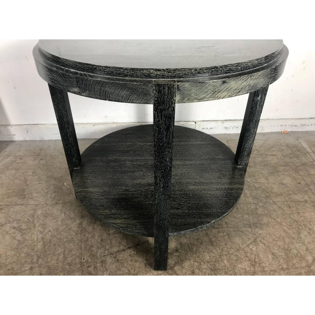 James Mont Stunning Ebonized Cerused Oak Center / Lamp Table James Mont For Sale - Image 4 of 8