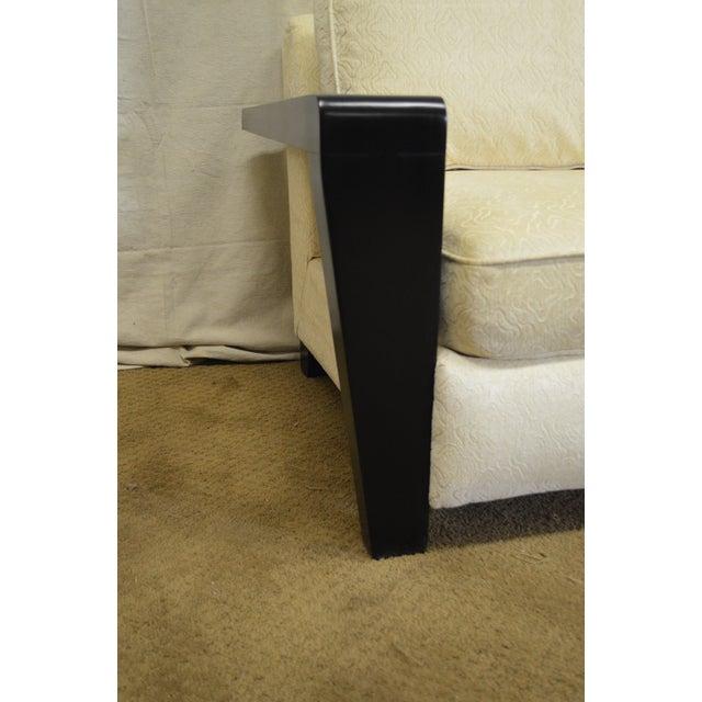 Thayer Coggin Modern Design Black & White Sofa For Sale - Image 5 of 10