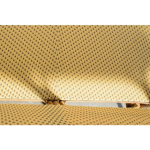 1970s Vintage French Maison Gatti Rattan and Bamboo Banquette Settee For Sale - Image 11 of 13