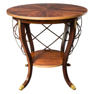 Regency Style Round Side Table/Center Table