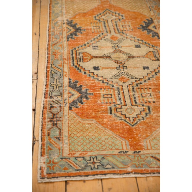 "Old New House Vintage Distressed Oushak Rug Runner - 2'9"" X 5'3"" For Sale - Image 4 of 10"