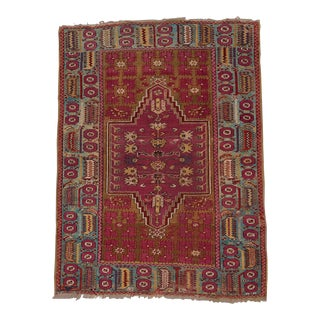 Kirshehir Double Niche Rug - 4′1″ × 5′7″ For Sale