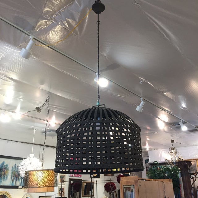 Industrial Cage Pendant Light - Image 3 of 9