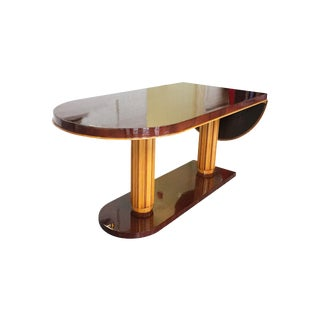 Gilbert Rohde Art Deco Oval Drop-Leaf Desk For Sale